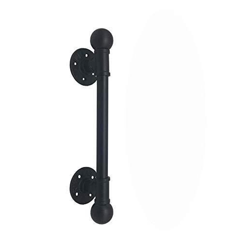 Zwarte Waterpijp Handvat Deurklink Industriële Wind Ball Handvat Deur Houten Deur Glazen Deur Decoratieve Doorknocker Voor het maken van DIY