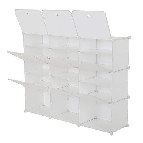 WYI Zapatero portátil organizador de 30 pares de estantes de almacenamiento para tacones, botas, zapatillas, 5 niveles blancos (120 x 30 x 90 cm)