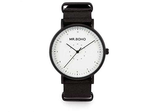 MR. BOHO Reloj Analógico para Adultos Unisex de Cuarzo con