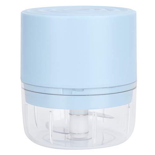 Fybida Trituradora de ajo eléctrica fácil de Limpiar Carga USB Operación inalámbrica Picadora de ajo eléctrica Picadora de Carne Cocina para el hogar(Blue, 100ml)