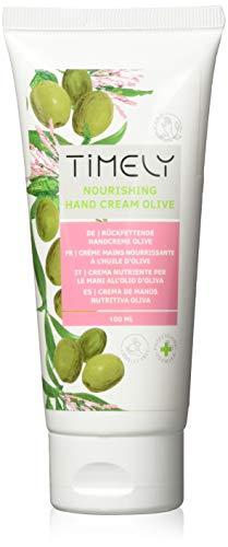 Timely - Crema de manos hidratante y regeneradora con aceite de oliva, 100 ml