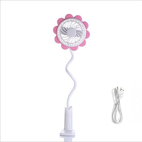 Mjd Fan USB-ventilator voor kinderwagen, mini-clip-on mini-clip-on ventilator, voor op reis, voor buiten en thuis.