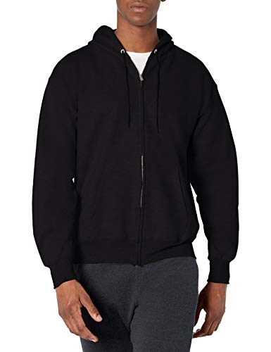 Hanes Men's Full Zip Ultimate Heavyweight Fleece Hoodie, Black, XX-Large