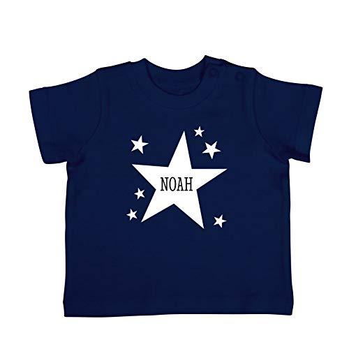Baby shirt bedrukken - Korte mouw - Navy - 50/56
