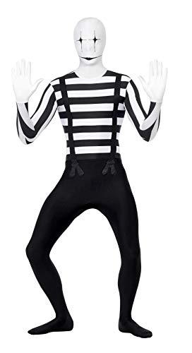 Smiffys, Herren Second Skin Pantomime Kostüm, Ganzkörperanzug mit Bauchtasche, Größe: L, 24619