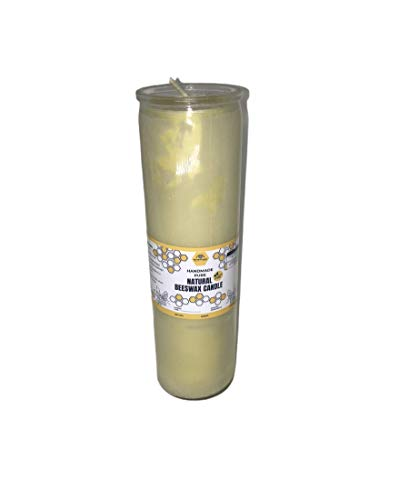 BearNaturalOrganics Pure Natural Beeswax Pillar Candle 2 inch x 9 inch 7 day Burn Time