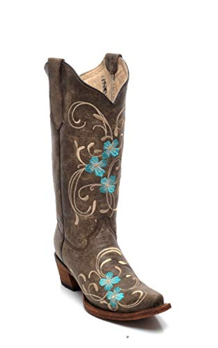 Corral Boots Circle G L5255 Brown Turquoise/Damenstiefel Braun Türkis/Westernstiefel/Cowboystiefel, Groesse:37 (6.5 US)