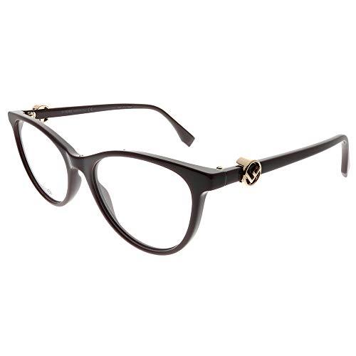 Fendi F Is Fendi FF 0332 8CQ - Occhiali da vista in plastica effetto ciliegia, 52 mm