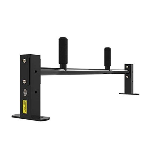NgMik Pull-ups Tür Pullup Klimmzugstange Startseite Multifunktionale tragbare Dip Bar Fitness Fitnessausrüstung Startseite Fitness-Turm (Color : Black, Size : 98x15x21cm)