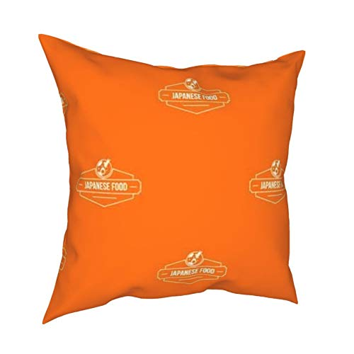 melendleo Hengjiang Weiang Halloween Party Cushion Cover45 * 45cm Menu Japanese Food Orange