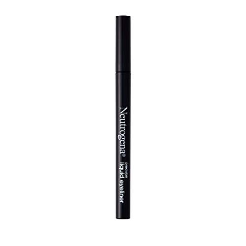 Neutrogena Precision Liquid Eyeliner with Honey & Coconut, Hypoallergenic, Smudge- & Water-Resistant Eyeliner Makeup for Precise Application, Jet Black, 0.013 fl. oz