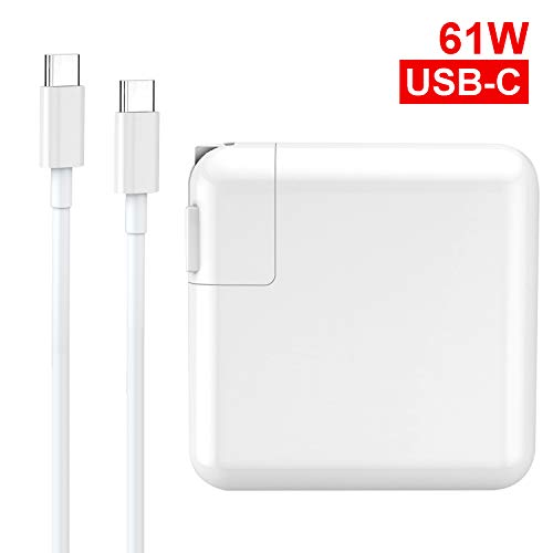 61W USB C Charger Power Adapter,UL Certified Fast Type C PD Wall Charger for MacBook Pro 13', MacBook Air,HP Spectre,Dell XPS,Matebook and More with 6.6FT USB C-C Cable