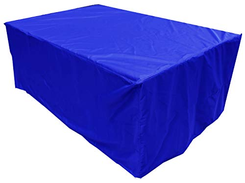 KaufPirat Premium Housse de Protection Bâche Imperméable 230x130x80 cm Couverture de Table de Jardin Housse protectrice pour mobilier de Jardin en Polyester Oxford Bleu