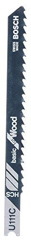 Bosch 2 608 630 566 - Hoja de sierra de calar U 111 C - Basic for Wood (pack de 3)