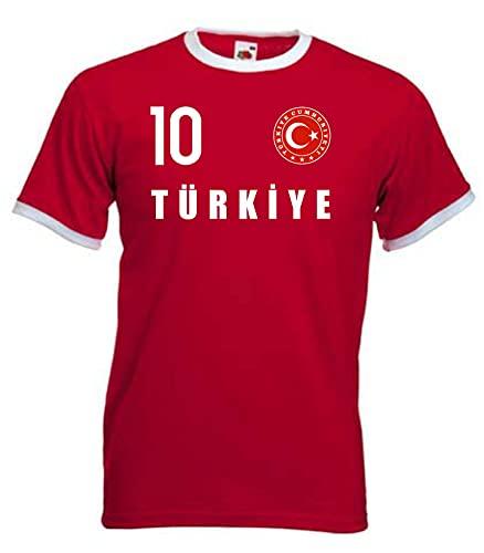 Nation Türkei T-Shirt Ringer Trikot Wappen FH 10 RO (M)