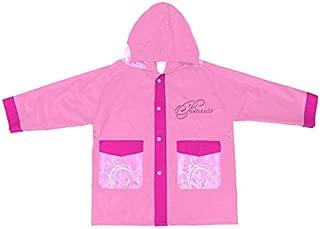 Poncho Impermeabile Fucsia Bambina Materiale Eva PERLETTI Mantella Pioggia Rosa Principesse Disney Cenerentola Jasmine e Rapunzel Mantellina Antipioggia con Cappuccio e Bottoni