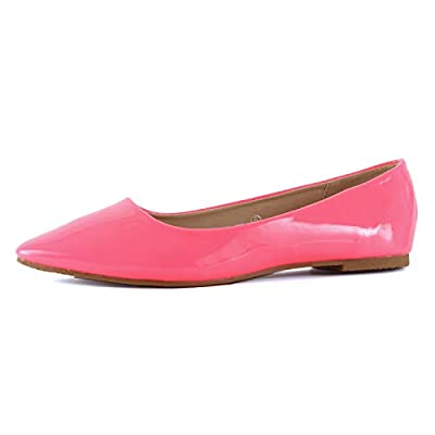 Guilty Shoes Womens Classic Pointy Toe Ballet Slip On - Casual Comfortable Flats