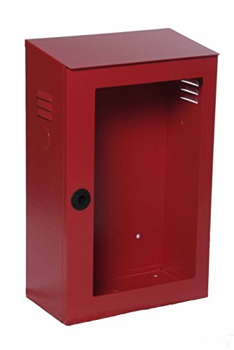 Cassetta Idrante in Metallo per Sistema Idrante 45 - Dim. mm 375x200x600H – Rosso con Lastra Frangibile Safe Window
