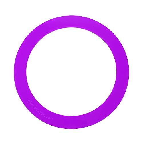 Alomejor 3 stücke Outdoor Jonglieren Akrobatik Werfen Ring Professionelle Hand Werfen Ring Armband Requisiten Hand Kreis Clown Spielzeug(Violett)
