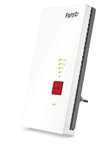 AVM FRITZ! 2400 Ripetitore / estensore segnale WiFi AC+N (Dual Band fino a 1.733 MBit/s a 5GHz + 600MBit/s a 2,4 GHz), Bianco