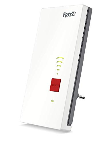AVM FRITZ! 2400 Ripetitore / estensore segnale WiFi AC+N (Dual Band fino a 1.733 MBit/s a 5GHz + 600MBit/s a 2,4 GHz), Bianco
