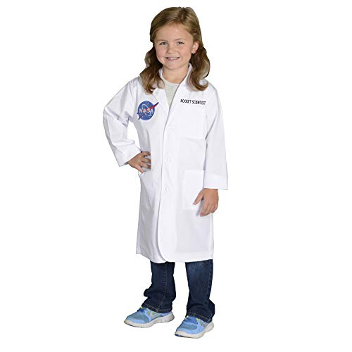 Aeromax Jr. NASA Rocket Scientist Lab Coat, White, size 6/8