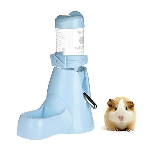 Lembeauty Botella de agua para hámsteres, alimentador automático de animales