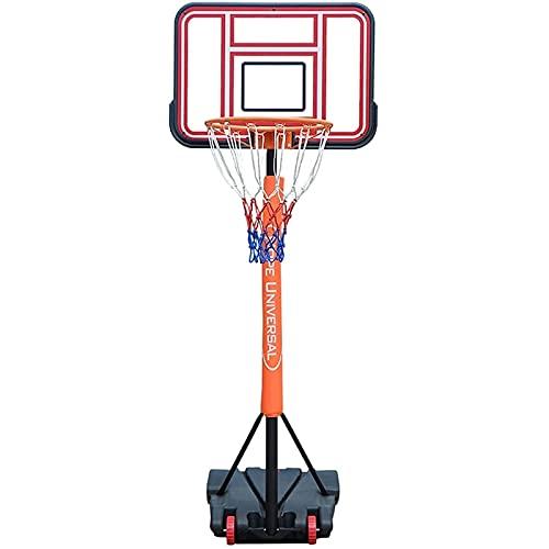 LYYJIAJU Aro de Soporte de Baloncesto portátil Hoop de Baloncesto Adulto para niños, Soporte de Baloncesto portátil al Aire Libre con Tablero y Kit de Canasta, Ajuste de Altura 155-210 cm