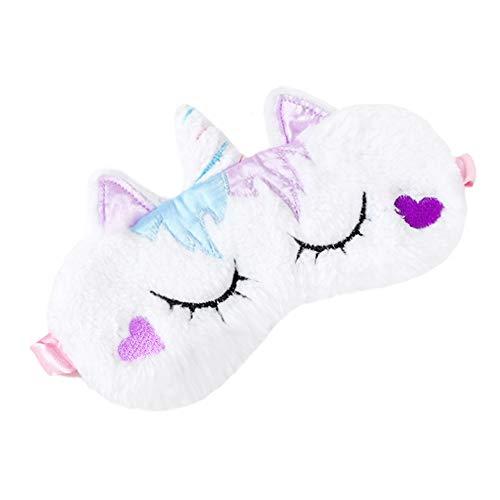 dressfan Linda 3D Máscara de Ojos Animal Para Dormir Viajar Mascarilla Transpirable de Sueño Sombra de Mascara de Dormir Niño Mujer Adulta Ntifaz para Dormir