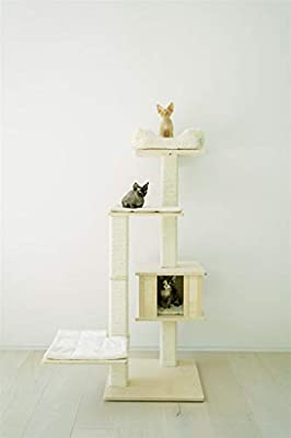"""PAWMONA 60"""" Multi-Level Sturdy cat Tree condo 
