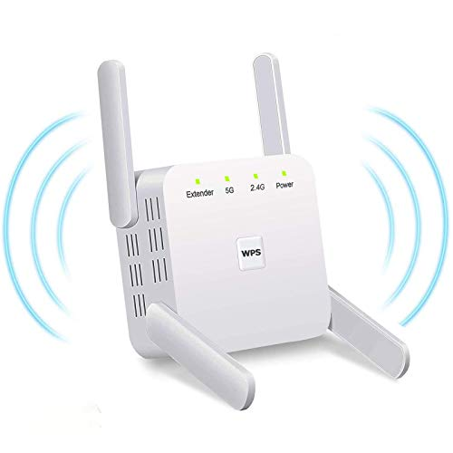 ZXCN WiFi Extender, 1200Mbps 2.4GHz/5GHz Dual Band WiFi Range Extender WiFi...