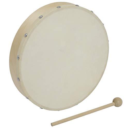 World Rhythm Handtrommel mit25.4cm (10 Zoll) Rahmen,Schlägel im Lieferumfang enthalten