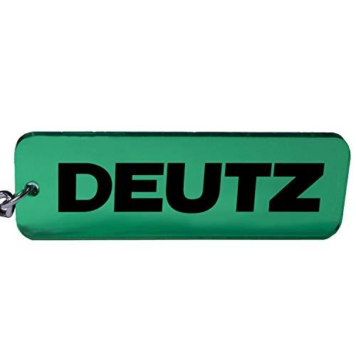 Deutz Trecker Traktor Schlüsselanhänger Emblem in Grün/schwarz
