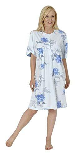 Normann Care Damen Pflegenachthemd Kurzarm, Rückenteil offen 999 275 90 001, Farbe:Mix, Größe2:52/54