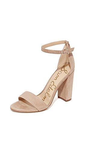 Sam Edelman Yaro Ankle Strap Sandal Heel Oatmeal 9.5 W