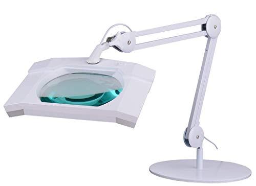 SEMPLIX LED Lupenleuchte 60 LEDs weiß (Linse 189 mm x 157 mm/Tischstandfuß)