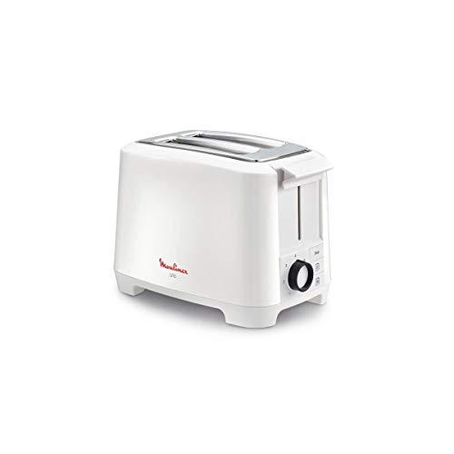 Moulinex LT140111 Grille-pain 2 fentes blanc 800W (boutons, rotatif)