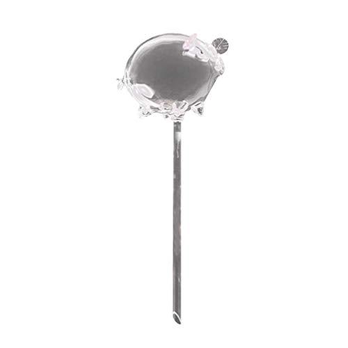 Plant Waterer Selbstbewässernde Globen Glühbirne Spike Glas Piggy Shape Klarglas Aqua Zwiebeln Kleine Pflanze Blume Für Gartenschreibtisch im Innenhof