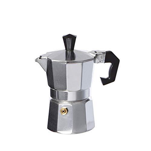 takestop® Cafetera 3Tazas Taza Espresso napolitano Aluminio caff㈠Coffee Bar
