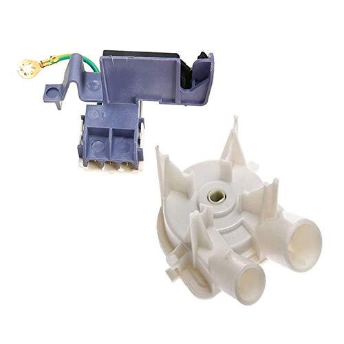 ZRNG Interruptor de Cubierta de la máquina de Lavado 8559331 Bomba de Drenaje de la Lavadora con 8318084 Lavadora Tapa Interruptor de 3 Pines Roper Washer Fit para Whirlpool Kenmore 3