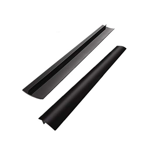 """Silicone Gap Cover, 2 PACK Silicone Gap Stopper Kitchen Stove Counter Gap Covers - 21"""" Flexible Stove Space Fillers, Food Grade, Non-toxic, White"""