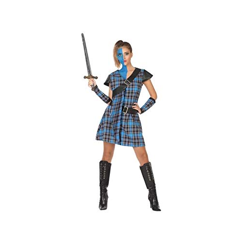 Atosa 53928 COSTUME SCOTTISH WOMAN M-L, dames, blauw/bruin