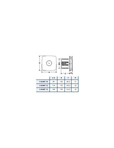 Cata M1785 - Extractor de baño x-mart 10 temporizador blanco