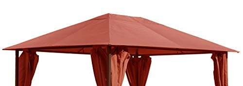 QUICK STAR Replacement Roof for Garden Gazebo 3x4m Orange-Red