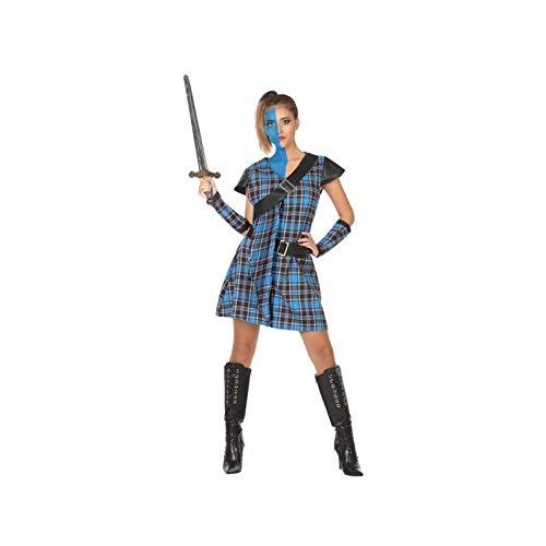 Atosa-53928 Disfraz Escocesa, Color Azul, M-L (53928)