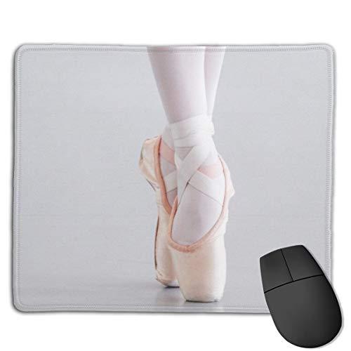 Jujupasg-Mauspad, Rutschfestes, Wasserdichtes Mousepad Auf Gummibasis Für Laptops -Ballett Tänzer Pointe beschuht rosa Pantoffel