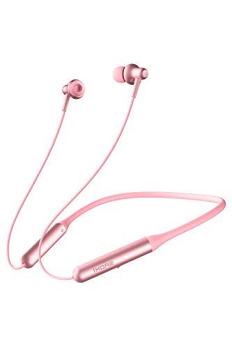 1MORE auricolari Bluetooth nell'orecchio con microfono, cuffie con archetto da collo, ricarica rapida, 12 ore di riproduzione, auricolari magnetici IPX5 impermeabili per sport E1024BT PRO-Pink
