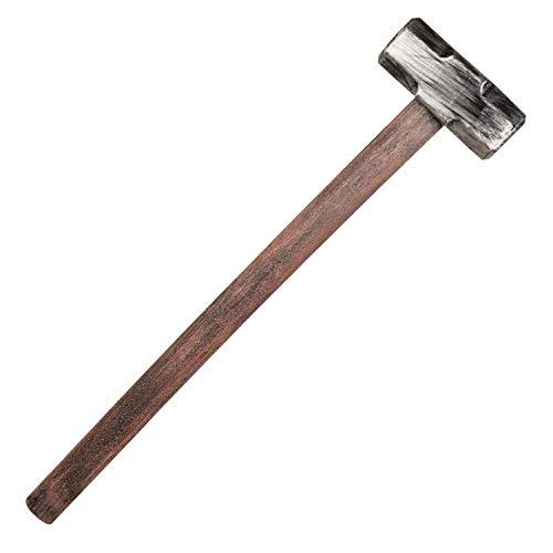 Boland 72268 - Vorschlaghammer, Länge 62 cm, Attrappe aus Kunststoff, Hammer, Waffe, Kostüm, Zubehör, Karneval, Mottoparty, Halloween