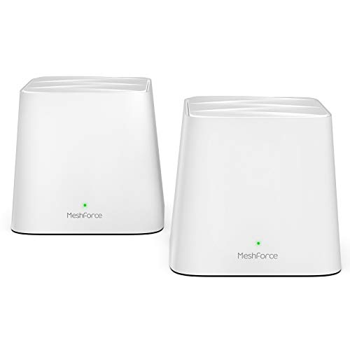 Meshforce M1 Mesh WiFi System - 1st Generation (2 Pack), Dual Band AC1200 Router Replacement Seamless and High Performance WiFi Coverage