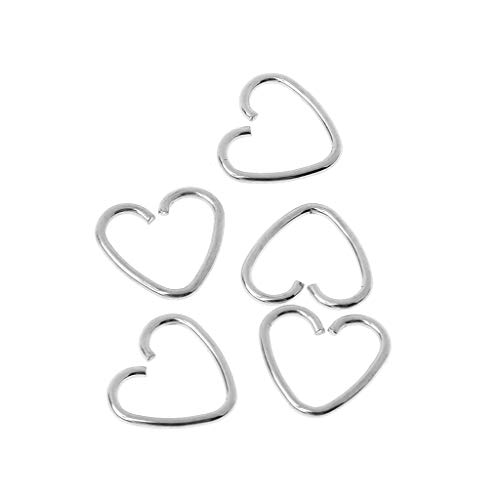 Kofun Aretes, En Forma De Corazón Fake Tragus Piercing Hoop Helix Cartílago Tragus Daith Stud Earring Steel Color